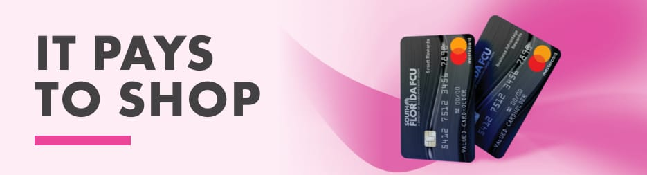 The SFFCU, A Division of Guardians CU Mastercard. To the left, the words: get rewarded.
